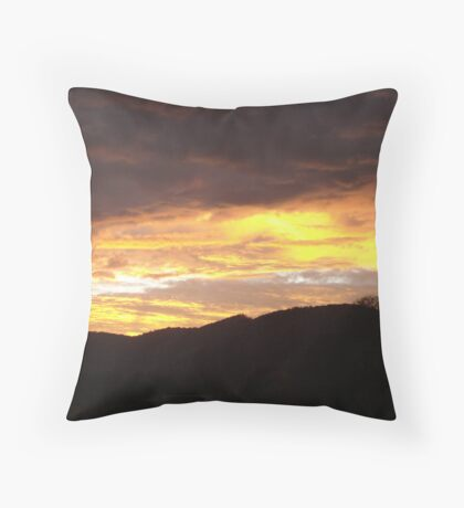 A Storms Last Glow Throw Pillow