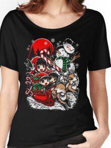 Kiddie Christmas Sleigh Ride Women's Relaxed Fit T-Shirt