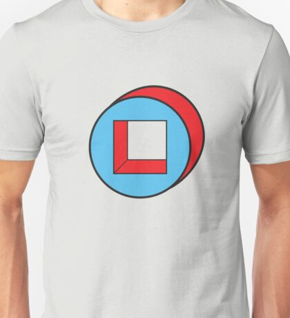 Blue Square / Red Circle Unisex T-Shirt