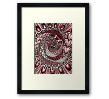 Spiral in the Pink Framed Print