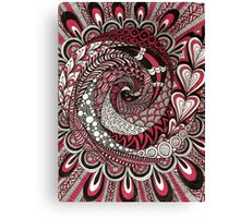 Spiral in the Pink Canvas Print