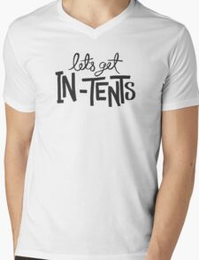 Let's Get In-Tents Mens V-Neck T-Shirt