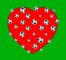Football And Red Heart by Almdrs
