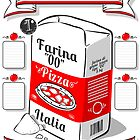 Vintage Hand Drawn Advertising Flour Pizza Page by aurielaki
