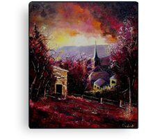 village in autumn Canvas Print