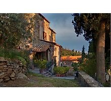 Tuscany mountain house Photographic Print