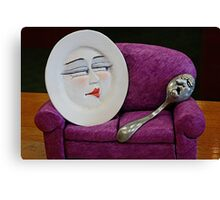 The Dish Ran Away With The Spoon Canvas Print