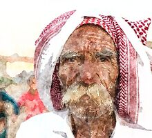 Yazidi old man by Adam Asar