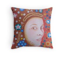 Brown Eyed Girl  FACE Throw Pillow