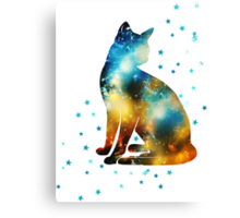 Space Pussy On Milky Way, Cat, Space, Galaxy Canvas Print