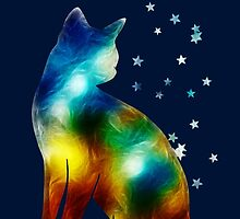 Galactic Space Pussy On Milky Way, Cat, Space, Galaxy by boom-art