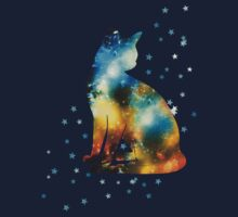 Space Cat On Milky Way, Kitty, Space, Galaxy by boom-art