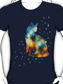 Space Pussy On Milky Way, Cat, Space, Galaxy T-Shirt
