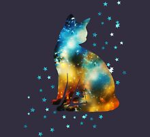 Space Cat On Milky Way, Kitty, Space, Galaxy Womens Fitted T-Shirt