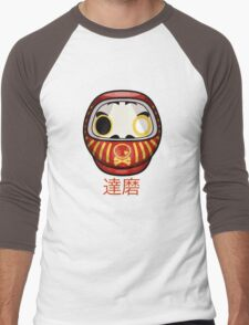 mikoto's Daruma Doll Men's Baseball ¾ T-Shirt