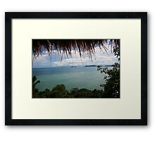 Sea View with Frame Framed Print