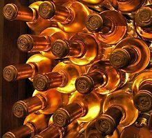 White wine bottles by SpikeFlutie