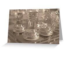 Chess Quarter Greeting Card
