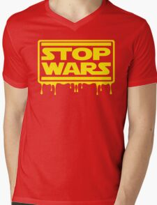 Stop Wars Mens V-Neck T-Shirt