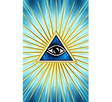 All Seeing Eye Of God, Flames - Symbol Omniscience Photographic Print