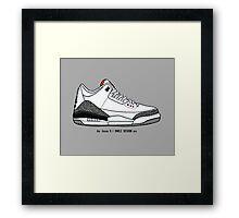 Air Jordan 3 / Smile Design 2014 Framed Print