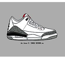 Air Jordan 3 / Smile Design 2014 Photographic Print