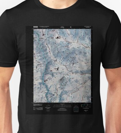 USGS TOPO Map Colorado CO Garfield 20110217 TM Inverted Unisex T-Shirt