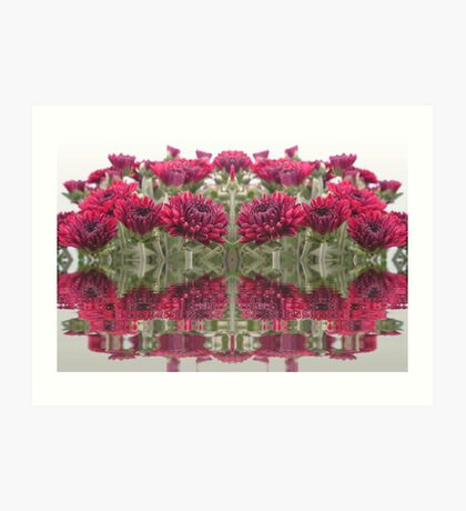 Mirrored Mums Art Print