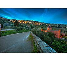 Cortona Tuscany at dusk Photographic Print