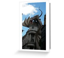 Harry Potter Deathly Hallows Dragon Greeting Card