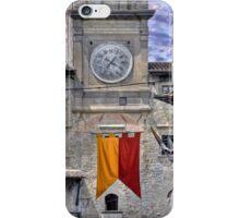 Cortona Tuscany clock tower iPhone Case/Skin