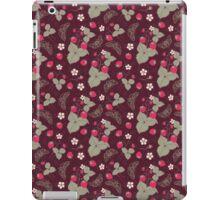 Vintage Berries Leaves Fruit Moth butterfly Wallpaper. iPad Case/Skin