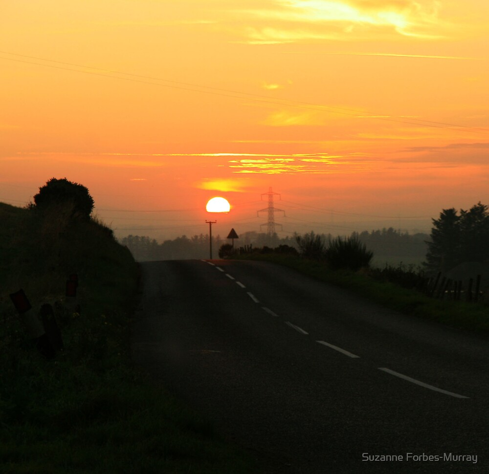 Sunset over Aberdeenshire by Suzanne Forbes-Murray