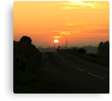 Sunset over Aberdeenshire Canvas Print