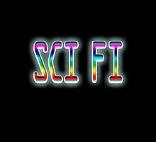 SCI FI, Science Fiction, hard SF, Soft SF, on BLACK by TOM HILL - Designer