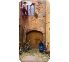 Lunchtime in Pienza Italy iPhone Case/Skin