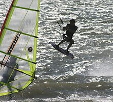 Windsurfer v Kitesurfer by hcd202