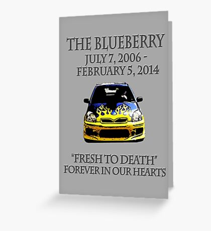 R.I.P. Blueberry Greeting Card