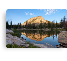 High Mountain Lake Canvas Print