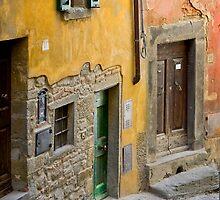 Facade in Cortona Tuscany by SpikeFlutie
