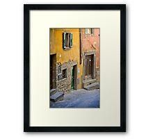 Facade in Cortona Tuscany Framed Print