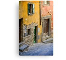 Facade in Cortona Tuscany Canvas Print