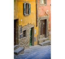 Facade in Cortona Tuscany Photographic Print