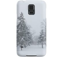 Snowstorm - Tall Trees and Whispering Snowflakes Samsung Galaxy Case/Skin