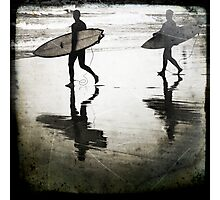 Two Surfers Photographic Print