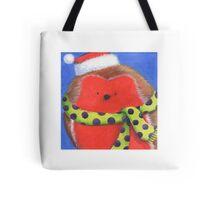Cute fat Christmas robin Tote Bag