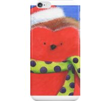 Cute fat Christmas robin iPhone Case/Skin