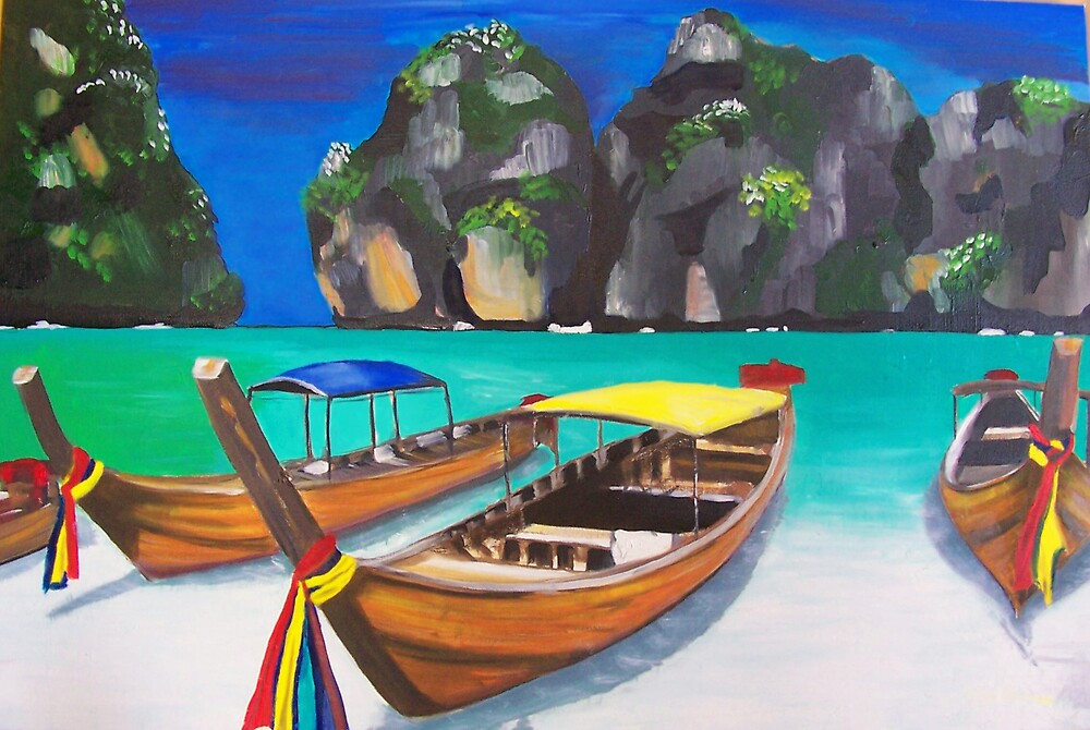 Boats in Phuket by Robyn  Arlidge