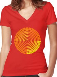 Circle Pattern2 t-shirt Women's Fitted V-Neck T-Shirt