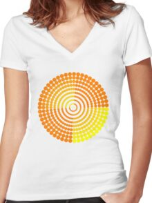 Circle Pattern2 t-shirt Women's Fitted V-Neck T-Shirt